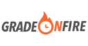 Small grade on fire logo