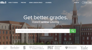 Preview tutorme homepage