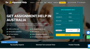 Preview goassignmenthelp homepage